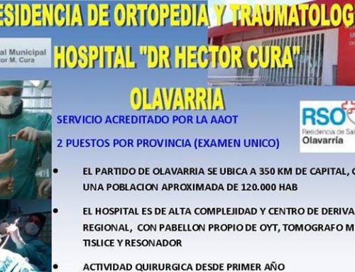 """Vacantes Residencia Htal """"Dr. H. Cura"""" Olavarría"""