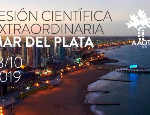 Sesión Científica extraordinaria AAOT en Mar del Plata