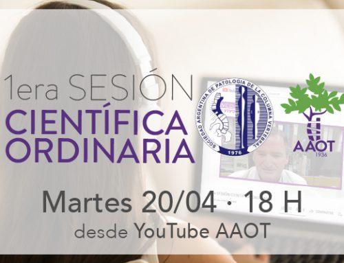 1er Sesión científica martes 20/4 en conjunto con SAPCV
