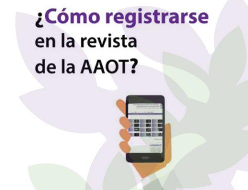 ¿Cómo registrarse en la revista de la AAOT?