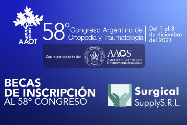 SORTEO BECAS CONGRESO. AAOT + SURGICAL SUPPLY
